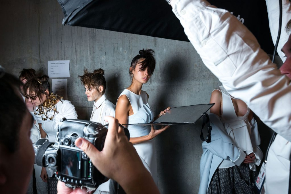Fashion behind camera